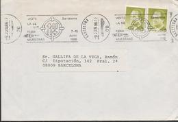 30171. Carta BARCELONA 1986. 54 Feria Internacional Muestras - 1931-Hoy: 2ª República - ... Juan Carlos I