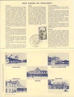 France Rep. Française 1982 Encartage - Gares De Province / Railway Station / Bahnhof / Treinstation - Trains