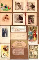 Lot De 14 Faire-Part De Naissance Et Baptêmes De 1918 à 1963 - Bon état Avec Noms Et Prénoms Des Parrains & Marraines - Geburt & Taufe
