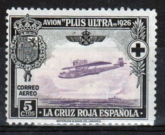 Spain 1926 Red Cross And Trans-atlantic Flight 5 Cent Stamp - Unused Stamps