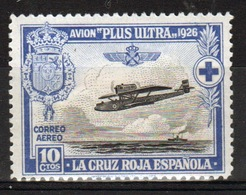 Spain 1926 Red Cross And Trans-atlantic Flight 10 Cent Stamp - Unused Stamps