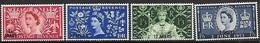 Oman  1953  Sc#52-5   Coronation Set   MNH  2016 Scott Value $15.25 - Oman