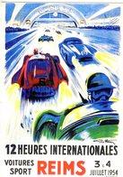 12 Heures Internationales - Voitures Sport à Reims  -  1954    -  Publicité  -  CPR - Le Mans