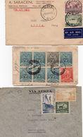 LETTERE : Foto F  -  3 Lettere Australia P.A. , Perù Registered , Bolivia P.A. - Collezioni (senza Album)