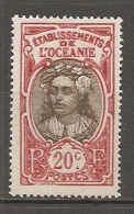 OCEANIE -  Yv. N° 69  *   20c Tahitienne     Cote  1,8 Euro  BE 2 Scans - Ungebraucht
