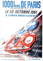 1000km. De Paris 1961  à Linas Montlhéry   -  Publicité  -  CPR - Le Mans