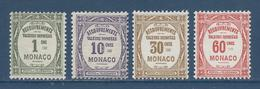 Monaco Taxe - YT N° 13 Et 16  - Neuf Avec Charnière - 1924 Et 1925 - Taxe
