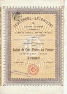 ACTION DE CENT FRANCS - DUNKERQUE - EXTENSIONS - 4000 ACTIONS - ANNEE 1911 - Autres