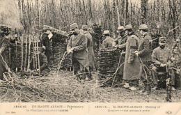 GUERRE 1914- 1918 WW1  EN HAUTE ALSACE  Fabrication De Fascines Aux Avant- Postes ... - Guerre 1914-18