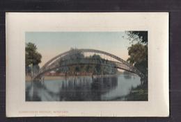 CPA ANGLETERRE - BEDFORD - SUSPENSION BRIDGE - TB PLAN Pönt Suspendu Sur Cours D'eau + Aviron - Bedford