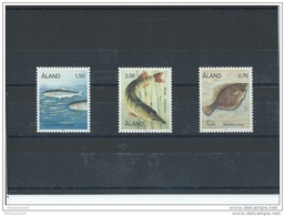ALAND 1990 - YT N° 38/40 NEUF SANS CHARNIERE ** (MNH) GOMME D'ORIGINE LUXE - Aland