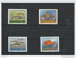 FEROE 1994 - YT N° 250/253 NEUF SANS CHARNIERE ** (MNH) GOMME D'ORIGINE LUXE - Islas Faeroes