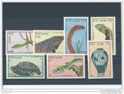 KAMPUCHEA 1988 - YT N° 844/850 NEUF SANS CHARNIERE ** (MNH) GOMME D'ORIGINE LUXE - Kampuchea