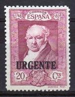 Spain 1930 Twenty Cent Purple Single Stamp Overprinted With The Word Urgente. - Unused Stamps