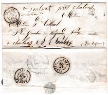 LSC Du 25/11/1847- Cachet Type 15 De PALLUAU VENDEE ( 79 ) - Marque Boite Rurale. G => St Etienne Des Bois ?  - - Postmark Collection (Covers)