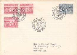 SCHWEDEN 1960 - 4 Fach Frankierung Auf Brief Gel. Stockholm - Wien - Briefe U. Dokumente