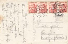 ÖSTERREICH 1937 - 4x3 Gro Auf Fotokarte KLAGENFURT, Gel.1937 V. Klagenfurt > Wien - 1918-1945 1. Republik