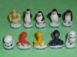 Sèrie De Fèves Complète  : Les Pingouins De Madagascar 2014 - Cartoons