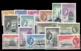 FALKLAND SHETLANDS. ** 51/65. Ligeras Sombras Del Tiempo. Cat. 340 €. - Islas Malvinas
