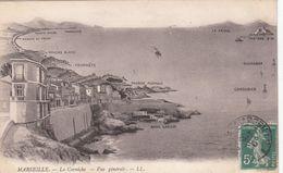Cp , 13 , MARSEILLE , La Corniche, Vue Générale - Marseilles