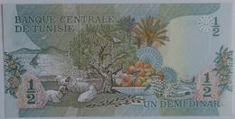 Tunisia Tunisie 1/2 Dinar 1973, UNC, World Paper Money P-69a - Tunisie