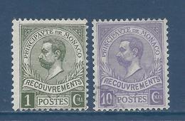 Monaco Taxe - YT N° 8 Et 9 - Neuf Avec Charnière Et Oblitéré - 1910 - Taxe
