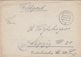 German Feldpost WW2: From Klaipeda In Lithuania - 2. Backerei-Kompanie 554 FP 30242 Zustellungsamt Memel P/m Memel 14.5. - Militaria