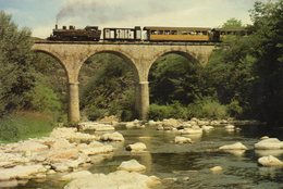 ARLEBOSC - Viaduc - Locomotive 414 - France