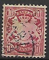 BAVIERE    -    1881 .   Y&T N° 50 Oblitéré. - Bayern