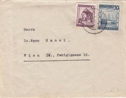 ÖSTERREICH 1947 - 10 + 30 Gro Auf Brief (mit Inhalt), Gel.v. Graz > Wien IV - 1945-.... 2. Republik