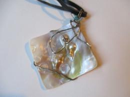 Ciondolo 6x6cm In Argento E Madreperla - Jewels & Clocks
