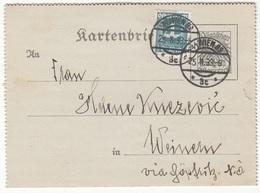 ÖSTERREICH 1933 - ? Gro Ganzsache + 4 Gro Zusatzfr. Auf Karten-Brief, Gel.v. Wien > Weinern Via Göpfritz - 1918-1945 1. Republik