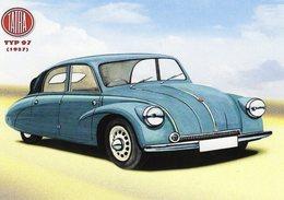Tatra Type 97  -  1937  -  Publicité  -  Carte Postale Reproduction (CPR) - Voitures De Tourisme