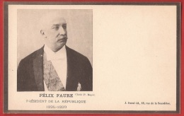 TMI1-18 Felix Faure  Président De La République 1895-1899 . Précurseur. Non Circulé - Personnages