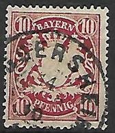 BAVIERE    -    1888 .   Y&T N° 63 Oblitéré. - Bayern