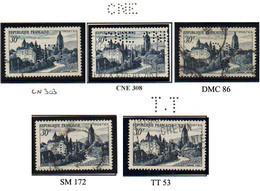 Perforé France Type Sîtes & Monuments 5 N° 905 (45 Perf Connues Pour Ce Timbre) - France