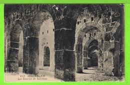 JERUSALEM / LES ECURIES DU ROI SALOMON/ Carte Vierge - Palestine