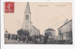 CPA 46 BELFORT Place Et église - France