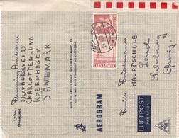 DÄNEMARK 1950 AEROGRAMM - 20 + 20 Öre Auf Aerogramm Gel.v. Kopenhagen > Lend In Salzburg - Luftpost
