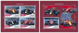 CENTRAL AFRICA 2018 - Formula 1, M/S + S/S Official Issue - Cars