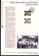 2014, DOCUMENT OFFICIEL DE LA POSTE: Rafle Des Enfants Juifs D'Izieu 6 Avril 1944 - Documents De La Poste