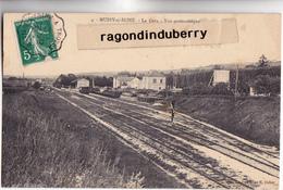 CPA - 10 - MUSSY-sur-SEINE - La GARE Vue Panoramique Beau Cachet Philatélique 1910 - CARTE RARE - - Mussy-sur-Seine