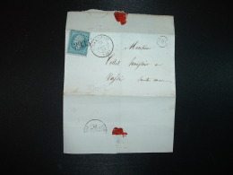 LETTRE (PLI) TP EMPIRE DENTELE 20c OBL. GC 3935 + 28 FEVR 64 THIEBLEMONT (49) (51 MARNE) OR ORIGINE RURALE - Postmark Collection (Covers)
