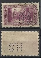 Colonie ALGERIE N° 108 HS 21 Indice 6 Perforé Perforés Perfins Perfin - Algérie (1924-1962)