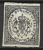 BAVIERE    -    Timbre De Retour   -   1865.   Y&T N° 4 (*) - Bavaria