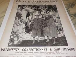 ANCIENNE PUBLICITE LES GRANDS MAGASIN  BELLE JARDINIERE  1922 - Habits & Linge D'époque