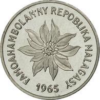 Monnaie, Madagascar, 2 Francs, 1965, Paris, ESSAI, FDC, Stainless Steel, KM:E7 - Madagascar