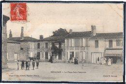 """BEGADAN - LA PLACE SAINT - SATURNIN - ECONOMAT DU MEDOC - COIFFEUR """" A.RENAUD """" - ANIMATION - France"""