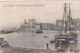 Cp , 13 , MARSEILLE , L'Entrée Du Vieux Port Et Le Fort Saint-jean - Old Port, Saint Victor, Le Panier