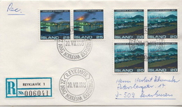 Postal History Cover: Iceland R Cover Volcanos Sets - Vulcani